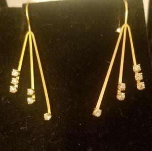 14k vintage gorgeous hook earrings